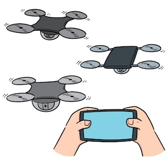 Vector set van drone