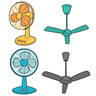 Vector set van fan