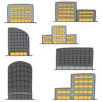 Vector set van gebouw