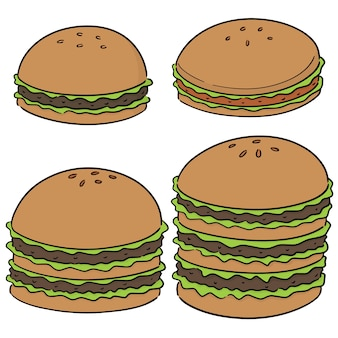 Vector set van hamburger