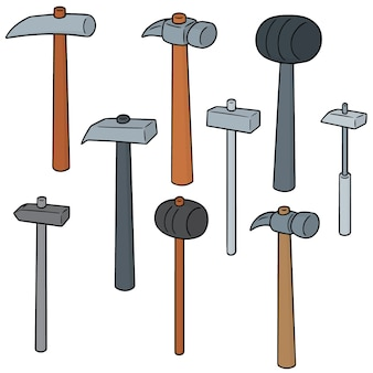 Vector set van hamer
