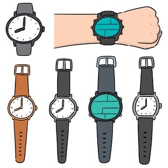 Vector set van horloge