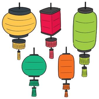 Vector set van lantaarn