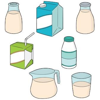 Vector set van melk