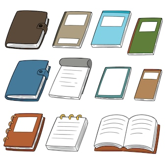 Vector set van notebooks