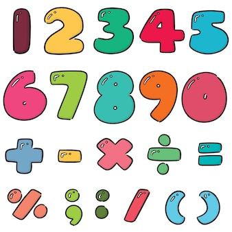 Vector set van nummer