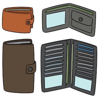 Vector set van portemonnee