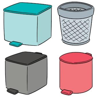 Vector set van recycle vuilnis