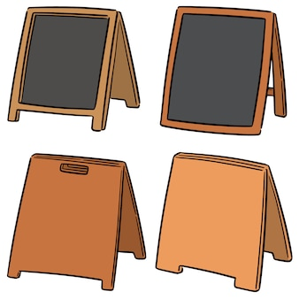 Vector set van sandwich bord