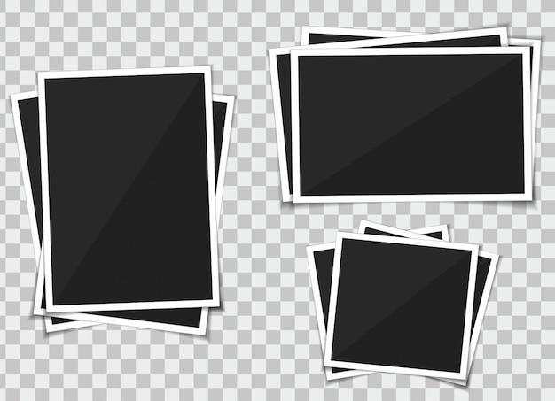 Vector set van sjabloon fotolijst