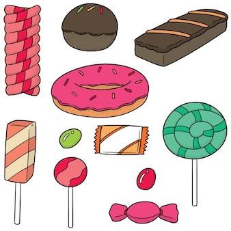 Vector set van snoep en snoep