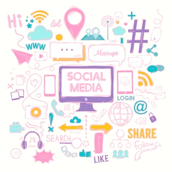 Vector set van sociale media iconen