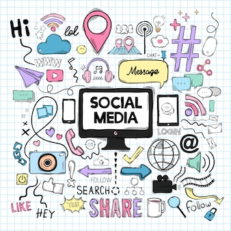 Vector set van sociale media iconen