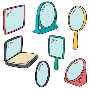Vector set van spiegel