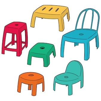 Vector set van stoelen