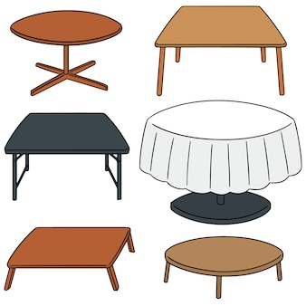 Vector set van tafel