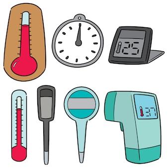 Vector set van thermometer