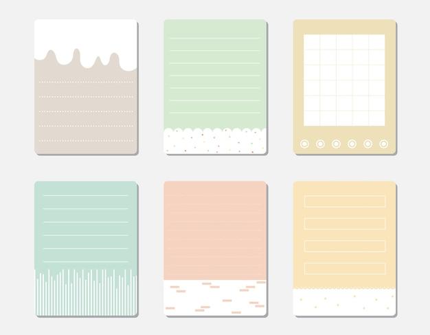 Vector set van verschillende kleur notitieblaadjes.
