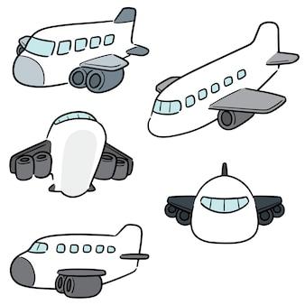 Vector set van vliegtuig