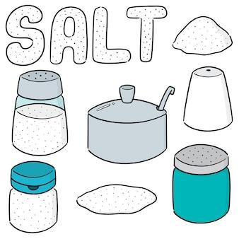 Vector set van zout