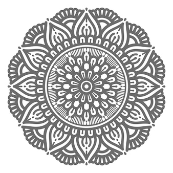 Vector sier mandala illustratie voor abstract en decoratief concept in cirkelvormige stijl