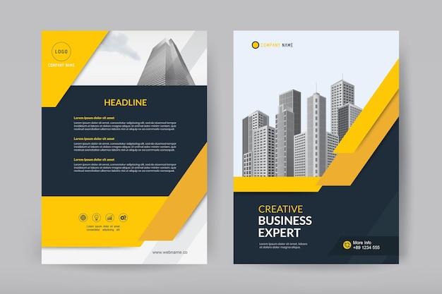 Vector sjabloonontwerp voor brochure en flyer