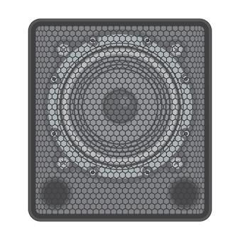 Vector solide kleuren concert subwoofer luidspreker