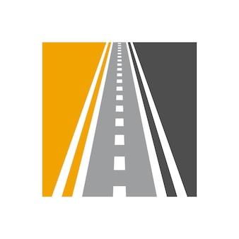 Vector speedway logo-combinatie unieke richting logo ontwerpsjabloon