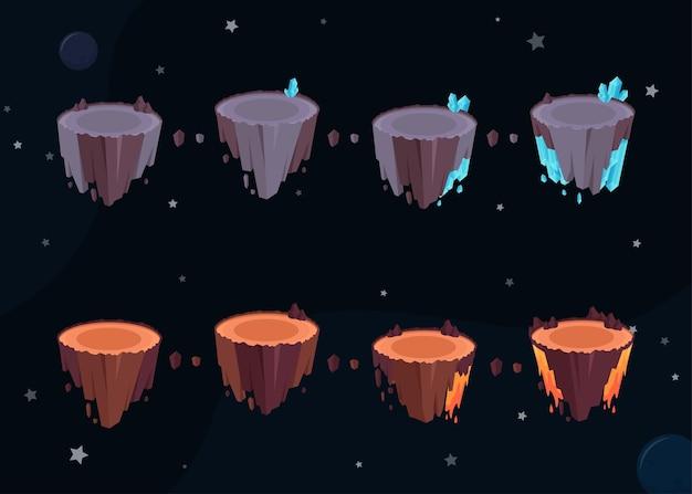 Vector spel sjabloon gui kit