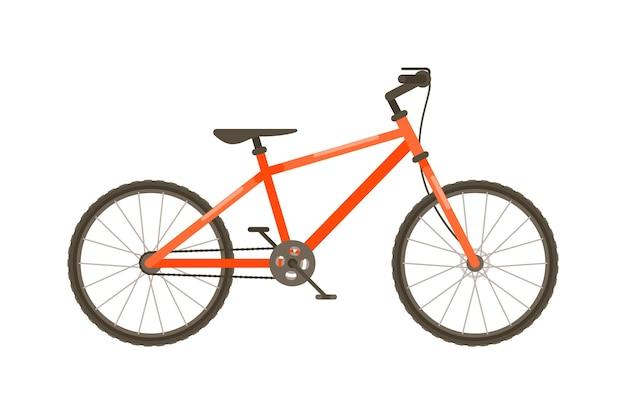 Vector sport fiets vervoer geïsoleerd op een witte achtergrond
