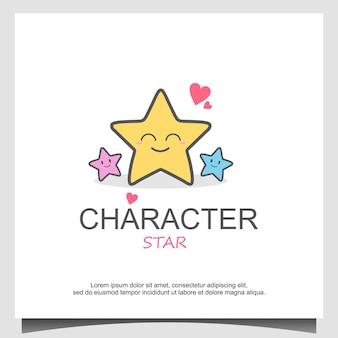 Vector star-personageontwerp of star-mascotte, perfect voor logo