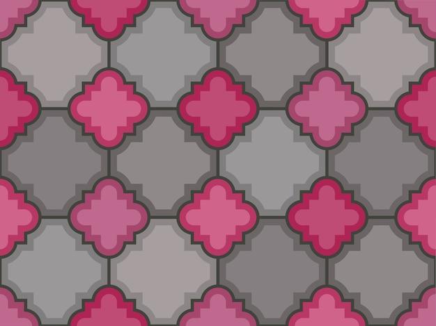 Vector stenen vloertegel naadloze patroon