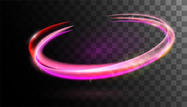 Vector swirl trail effect rotatie grenslijnen