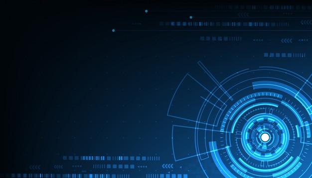Vector tech cirkel en technische achtergrond
