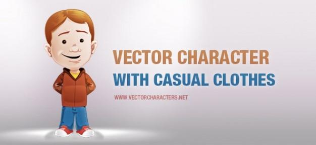 Vector teken met casual kleding