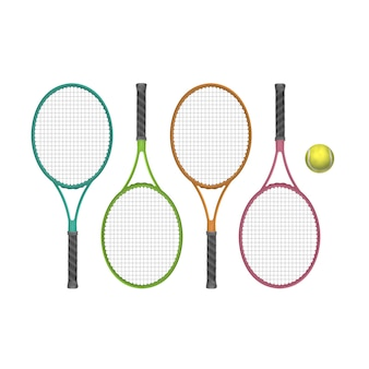 Vector tennisrackets met bal