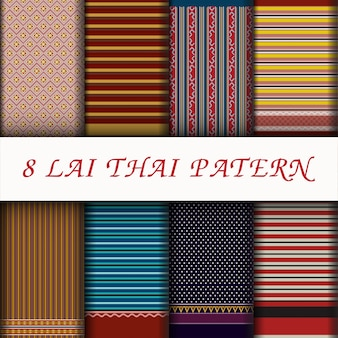 Vector thaise stijlgeklets