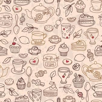 Vector thee naadloos patroon