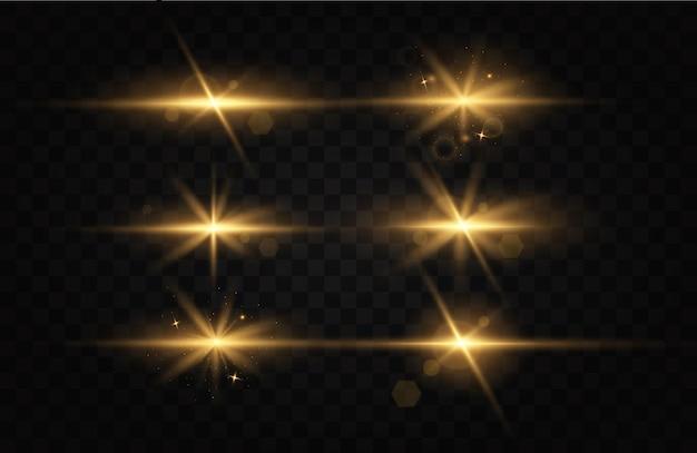 Vector transparant zonlicht speciaal lens flare lichteffect