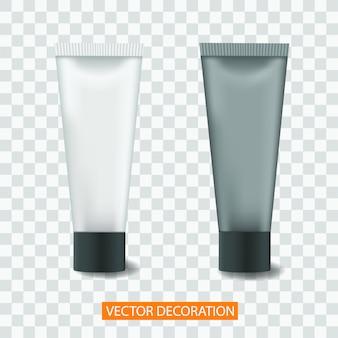 Vector tube cream of lotion, geïsoleerde mock up sjabloon