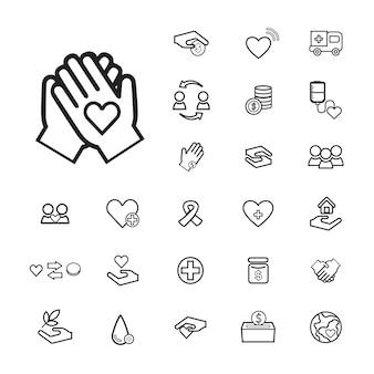Vector ui illustratie gezondheid donatie charity concept