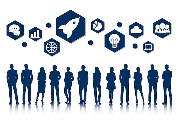 Vector ui illustratie mensen bedrijfsconcept