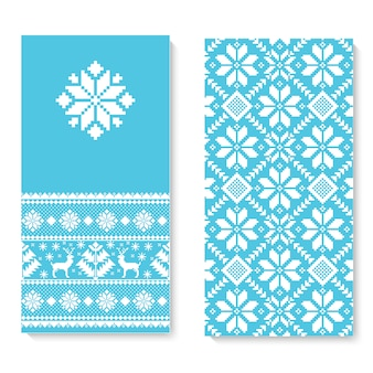 Vector uitnodigingskaart met folk patroon ornament.