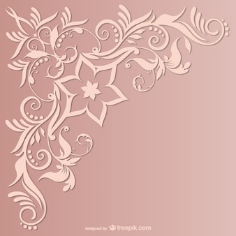 Vector uitstekende gratis swirl hoek ontwerp