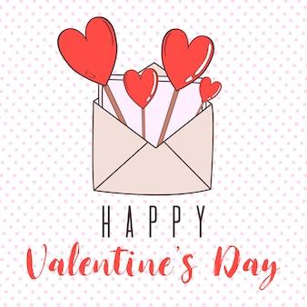 Vector valentijnsdag kaarten sjablonen