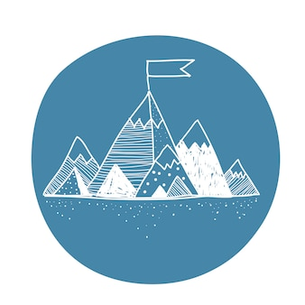 Vector van berg