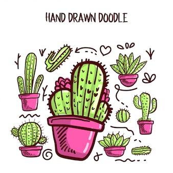 Vector van cactus en succulente set.