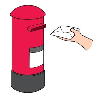 Vector van de brievenbus