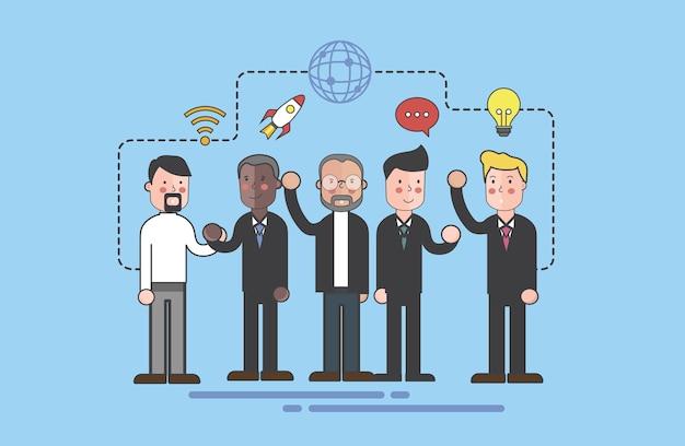 Vector van de illustratie van het bedrijfsmensenteam