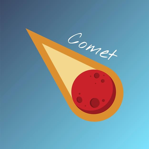 Vector van de komeet